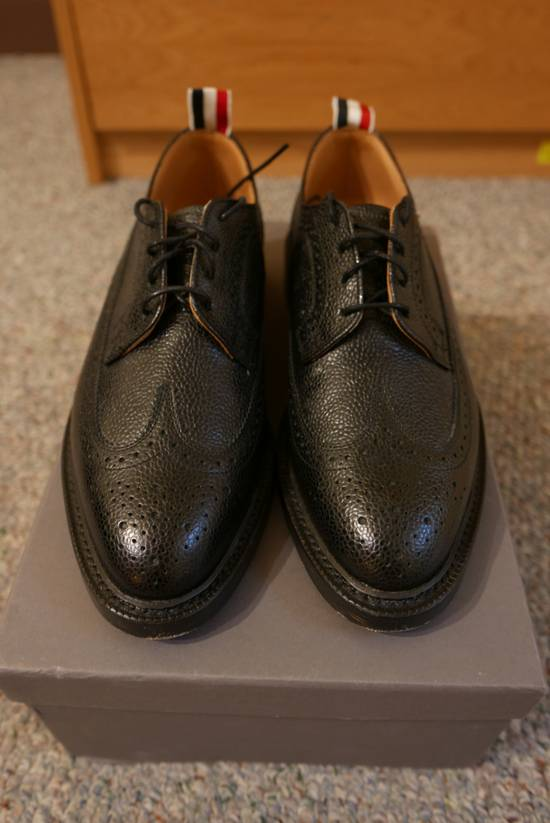 Thom Browne Pebble-Grain Leather Longwing Brogues Size US 8 / EU 41 - 1
