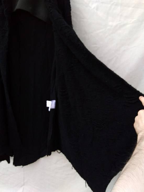 Julius Black Hooded Cotton Wool Jacquard Cardigan Size US M / EU 48-50 / 2 - 2