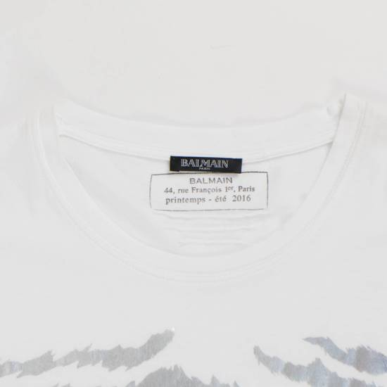 Balmain White Cotton Short Sleeve Embellished T-Shirt Size L Size US L / EU 52-54 / 3 - 1