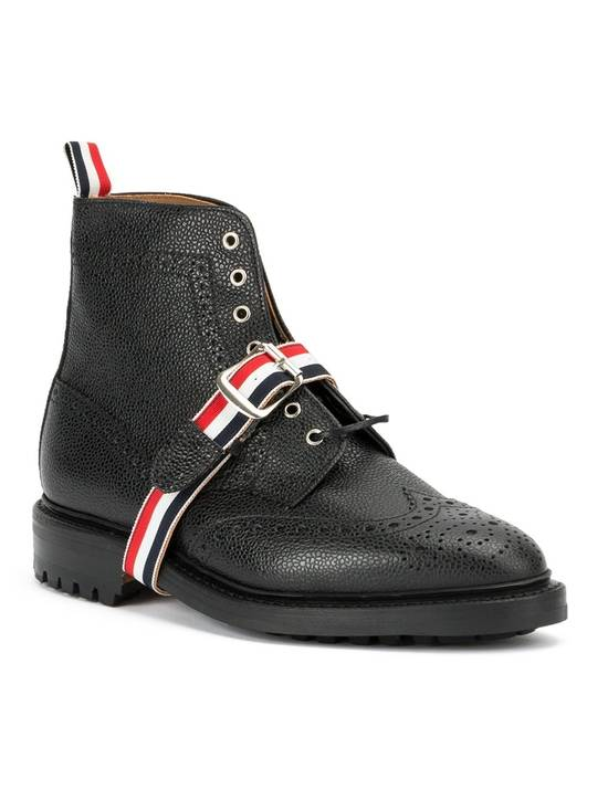 Thom Browne Striped Strap Brogue Boots Size US 11 / EU 44