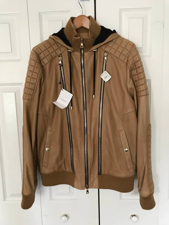 Balmain New $4155 Lambskin Leather Jacket Size US L / EU 52-54 / 3