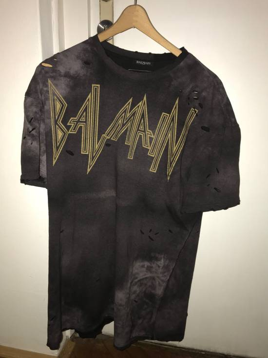 Balmain balmain oversized,distressed-t shirt Size US XL / EU 56 / 4 - 2