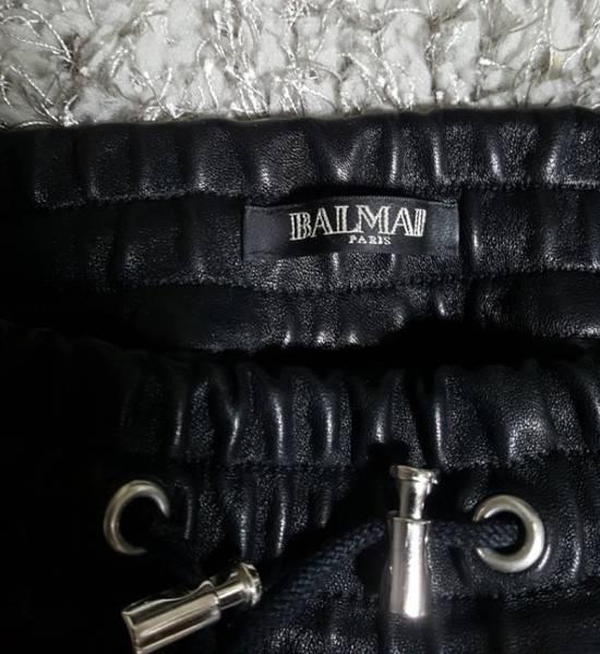 Balmain Leather Black Training Biker Size US 30 / EU 46 - 9
