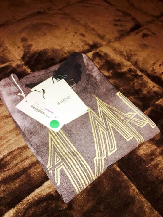 Balmain Balmain Distressed Batik Print Logo T-Shirt Size US XL / EU 56 / 4