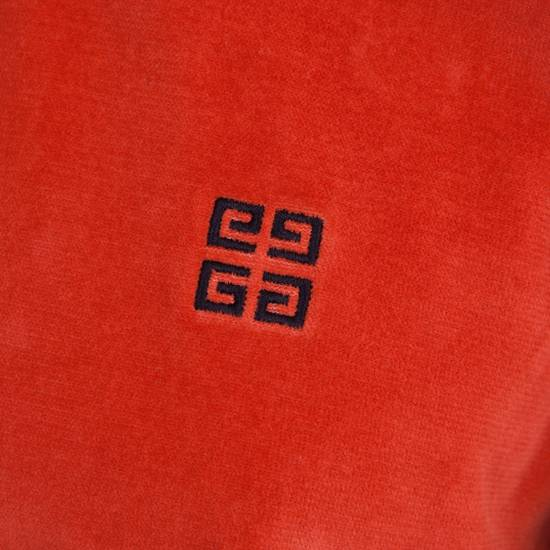 Givenchy Orange Men's Velour Crewneck T-Shirt With 4G Chest Logo Size US M / EU 48-50 / 2 - 5