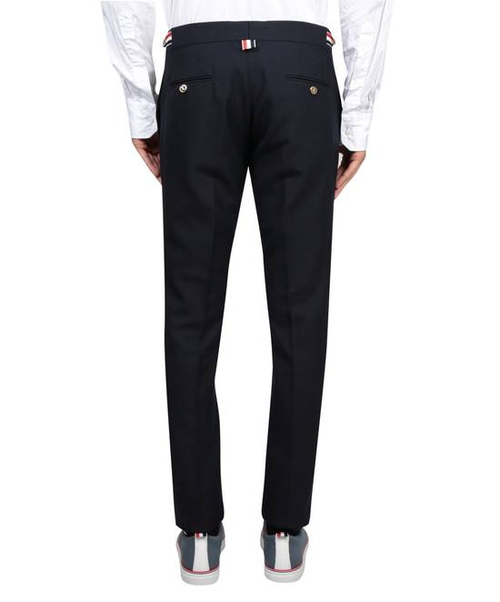 Thom Browne Navy Wool 2-Ply Fresco Low-rise Trousers Size 3 Size 34R - 2