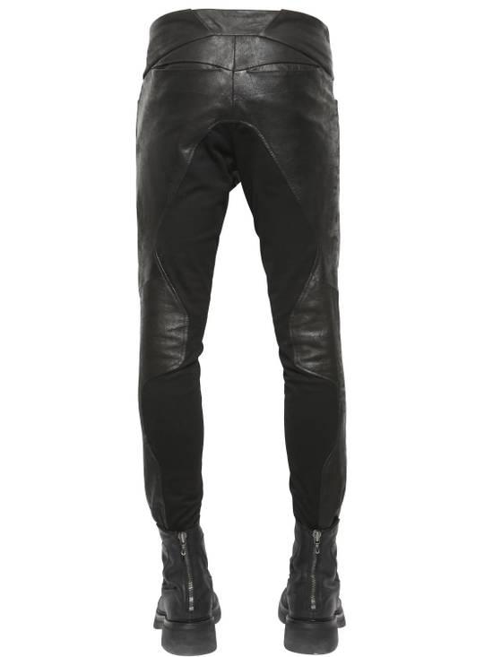 Julius Knee Paneled Leather Biker Pants Size US 30 / EU 46 - 6