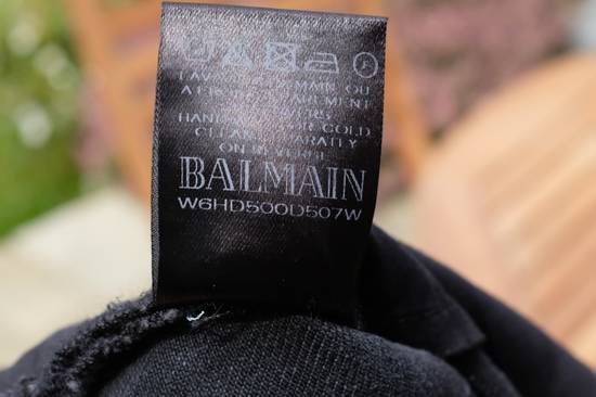 Balmain Black Waxed Biker Jeans Size US 29 - 10