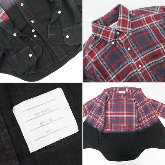 Thom Browne Long Sleeve Red × Blue × Black Checkered Pattern Shirt Button Up Size US L / EU 52-54 / 3 - 3