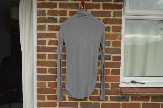 Balmain Grey Ribbed Knit Roll Neck T-shirt Size US M / EU 48-50 / 2 - 6