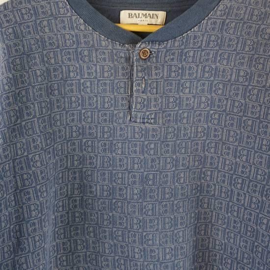 Balmain Vintage Balmain Monogram Blue Sweatshirt Size US L / EU 52-54 / 3 - 3