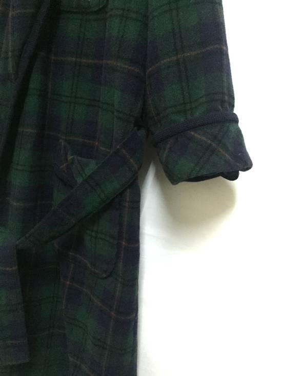 Balmain Vintage 90s Vent Vent PAR Pierre Balmain sleepwear wool plaid flannel in cupra lining japan. Size 38R - 4