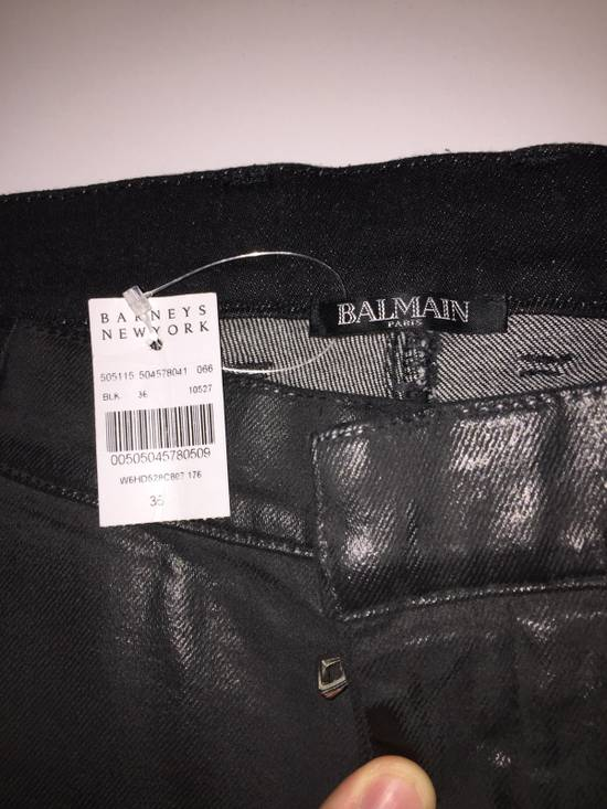 Balmain Grey Waxed Balmain Denim Size US 36 / EU 52 - 1