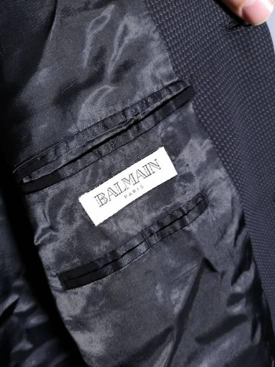 Balmain Pierre Balmain Paris France Elegant Black Blazer Suit Tailored Wool 44M Size 44R - 3
