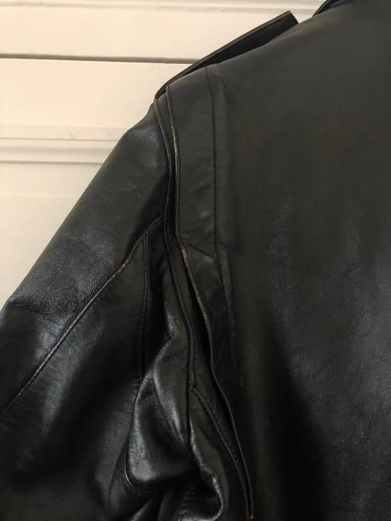 Balmain Black Horse Leather Double Rider Jacket Size US L / EU 52-54 / 3 - 6