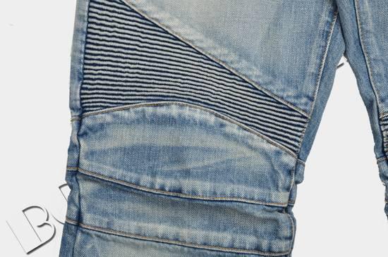 Balmain Slim Signature Light Blue Biker Jeans Size US 29 - 5