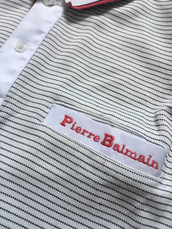 Balmain Vintage Balmain Polo Shirt Long Sleeve not gucci balenciaga saint laurent givenchy versace fendi burberry moncler undercover Size US M / EU 48-50 / 2 - 2