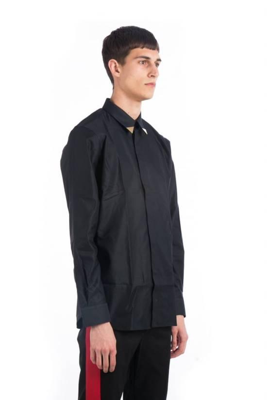 Givenchy Metallic Tipped Collar Shirt (Size - 43) Size US S / EU 44-46 / 1 - 1