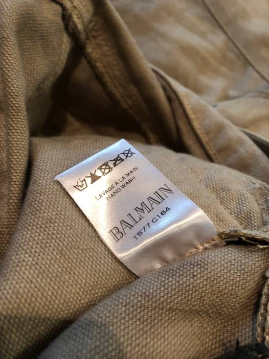 Balmain Balmain Biker Jeans Cotton Canvas Beige Distressed Paint Size US 30 / EU 46 - 7