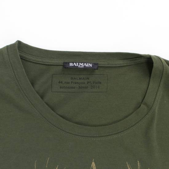 Balmain Green/Gold Cotton Short Sleeve Embellished T-Shirt Size M Size US M / EU 48-50 / 2 - 1