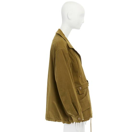 Balmain BALMAIN Pre14 army green stretch military zip up oversized jacket FR40 US8 UK12 Size US M / EU 48-50 / 2 - 5