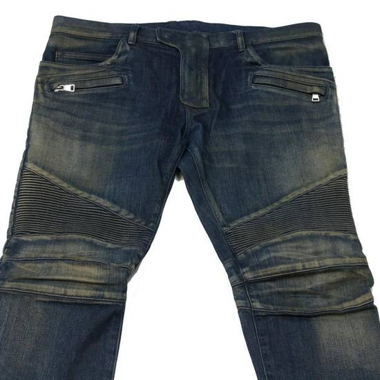 Balmain Balmain Mens Distressed Biker Moto Jeans Sz. 34 T551 C306 Size US 34 / EU 50 - 2