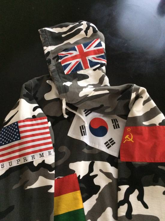 Supreme Snow Camouflage Supreme Flag Hoodie Size US M / EU 48-50 / 2 - 1