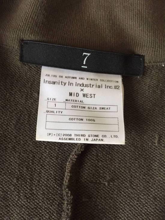 Julius Japan made long jersey oversize Popper fastening Gasmask pocket jacket Size US S / EU 44-46 / 1 - 6