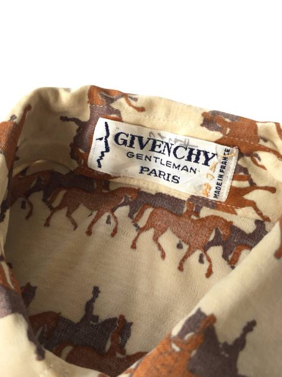 Givenchy Made in France 80's Overprinted Horse Stretched Slim Fit Button Up Shipping Size US S / EU 44-46 / 1 - 7