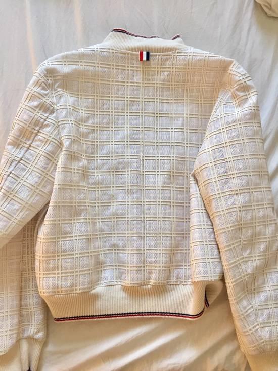 Thom Browne Thom Browne White Ribbed Zip-Up Jacket Size US S / EU 44-46 / 1 - 1