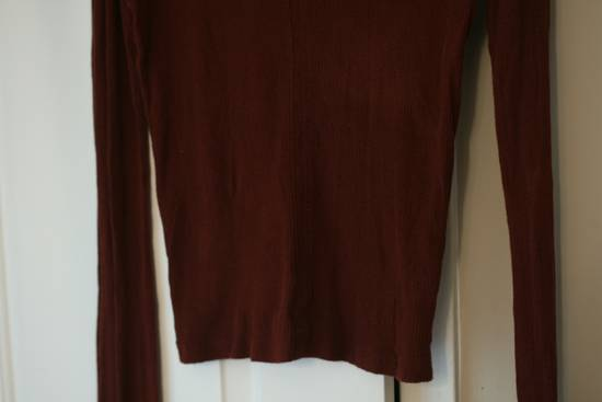 Julius FW08 Blood Red Cotton/Cashmere Rib L/S Size US S / EU 44-46 / 1 - 3
