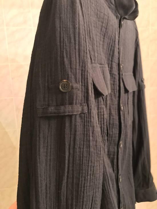 Balmain Black Mandarin Collar Wrinkle Effect Utility Shirt Size US M / EU 48-50 / 2 - 1