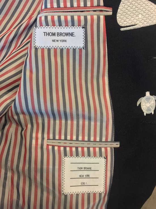Thom Browne Nautical-Patch Wool Two-Button Sportcoat Size 36S - 3