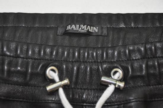 Balmain Balmain Men's Black Biker Style Nappa Leather Trousers Size US 32 / EU 48 - 2