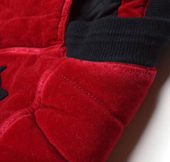 Balmain Badge Embellished Red Velvet Bomber Size US S / EU 44-46 / 1 - 6