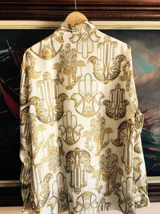 Givenchy Donatella Versace Chaos Greek Figures Silk Barocco Shirt 43 $1395 Size US L / EU 52-54 / 3 - 1