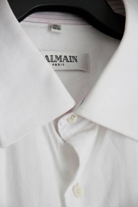 Balmain Classic Processed Cotton Shirt Size US XL / EU 56 / 4 - 2