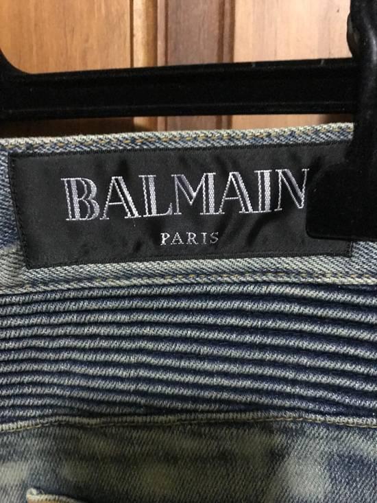 Balmain Distressed Slim Biker Jeans Size US 34 / EU 50 - 3