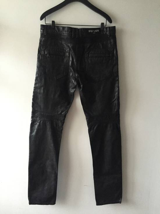 Balmain Balmain leather effect waxed biker Size US 33 - 1