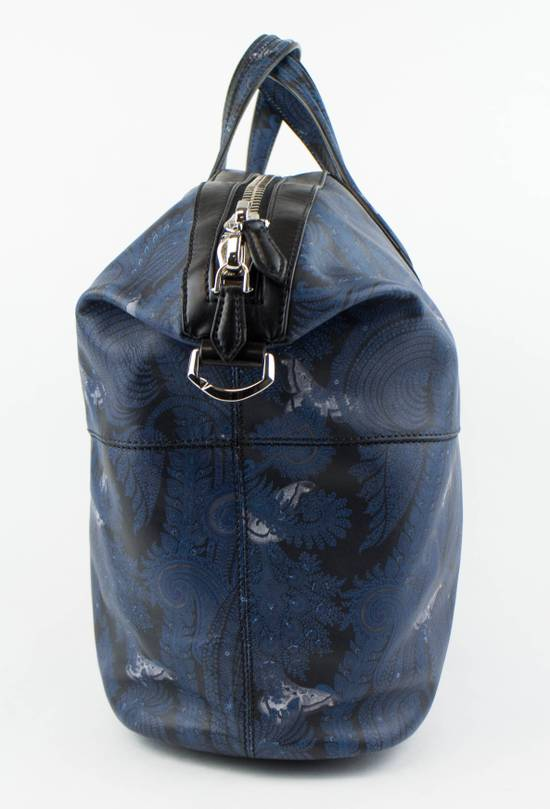 Givenchy Men's Blue/Black Leather Nightingale Paisley Carry On Bag Size ONE SIZE - 3