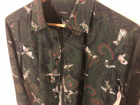 Givenchy Green/Navy Paisley Airplane Print Shirt Size US M / EU 48-50 / 2