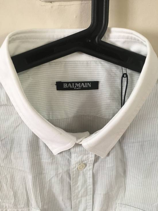 Balmain Balmain grey striped shirt Size US L / EU 52-54 / 3 - 2