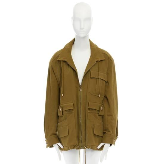 Balmain BALMAIN Pre14 army green stretch military zip up oversized jacket FR40 US8 UK12 Size US M / EU 48-50 / 2 - 3