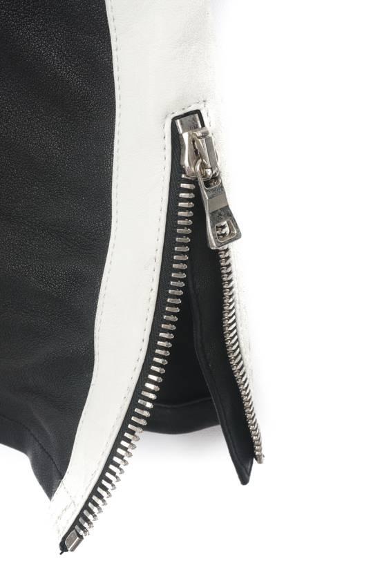 Balmain Balmain Black and White Leather Pants Size US 30 / EU 46 - 2