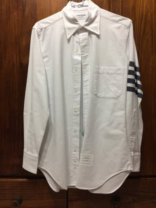 Thom Browne thom brown classic 4 stripes white shirts Size US S / EU 44-46 / 1