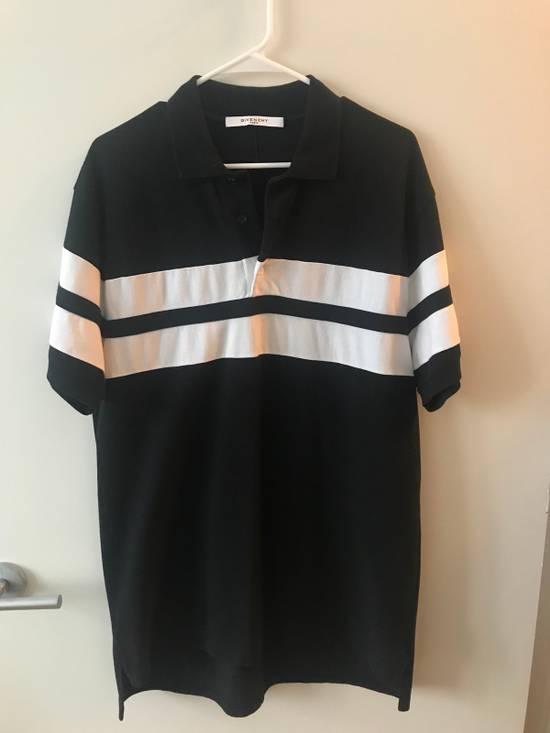Givenchy White Stripe Black Polo Size US L / EU 52-54 / 3