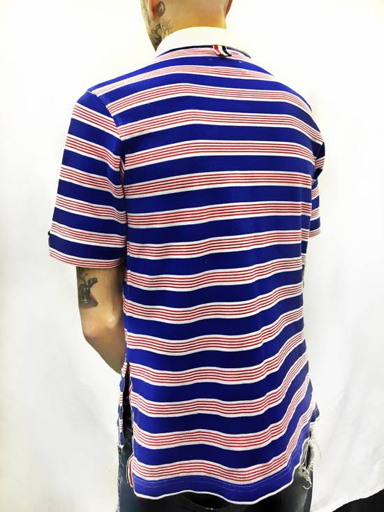 Thom Browne THOM BROWNE Red/White/Blue Striped Polo Size US XS / EU 42 / 0 - 3