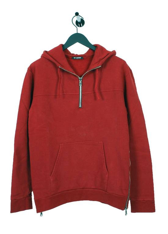 Balmain Original Balmain Red Men Hooded Top Sweatshirt Jumper in size L Size US L / EU 52-54 / 3