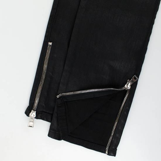 Balmain Black Cotton Blend Waxed Distressed Casual Pants Size Small Size US 32 / EU 48 - 5