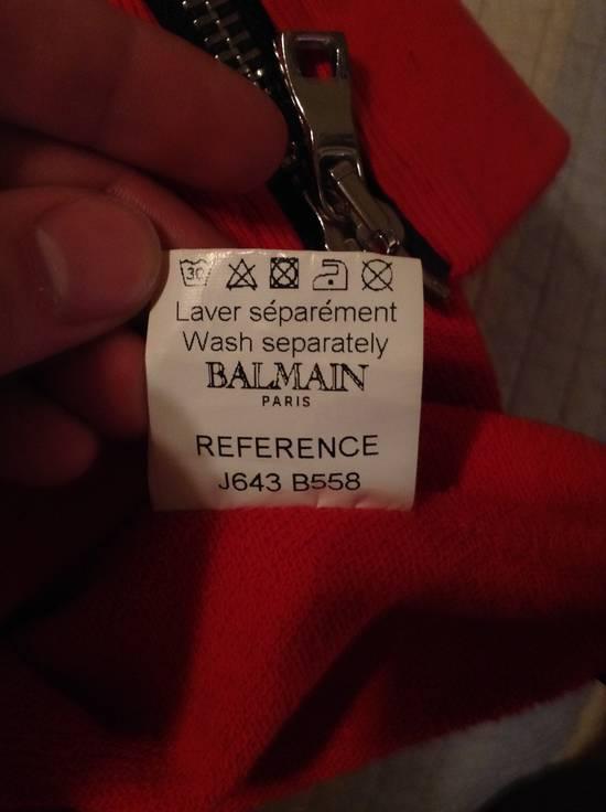 Balmain Dragon Crest Side Zip hoodie Red Size US M / EU 48-50 / 2 - 8